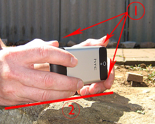 cell phone photography how to hold your camera