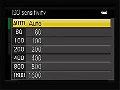 ISO selection screen