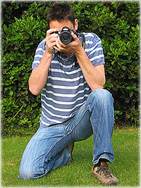 avoid camera shake by kneeling and bracing the camera