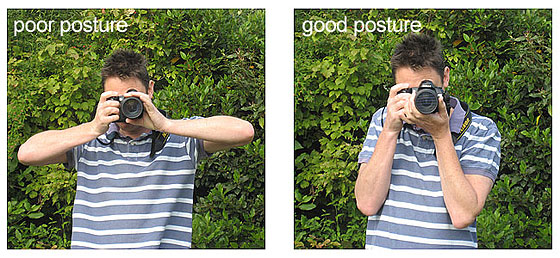how to hold your camera to avoid camera shake