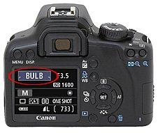 camera bulb setting