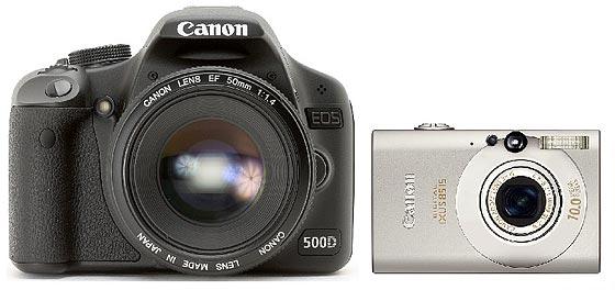 dslr compared to a compact digital camera