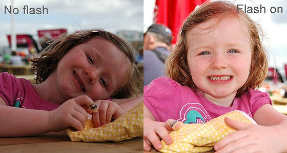 example of photograph using daytime flash, sometimes called fill-in flash
