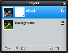 trick photography effect - ghost photo tutorial layers palette