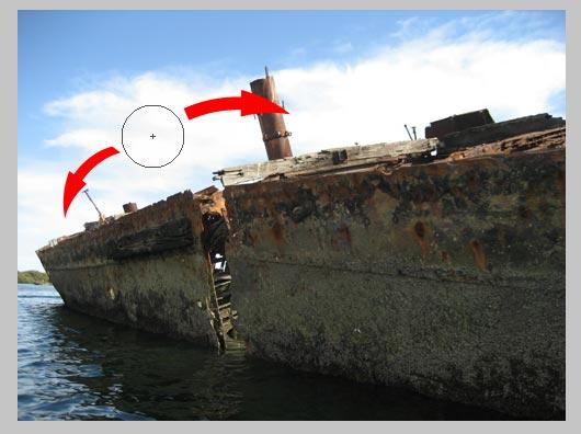 Make HDR photos - use the burn tool to bring back highlights