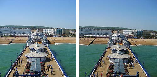 3D stereoscopic image of Eastbourne, Sussex