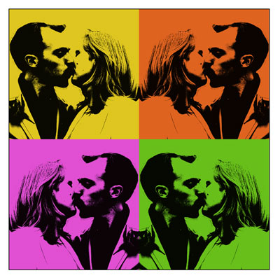 Pop art wedding photography image