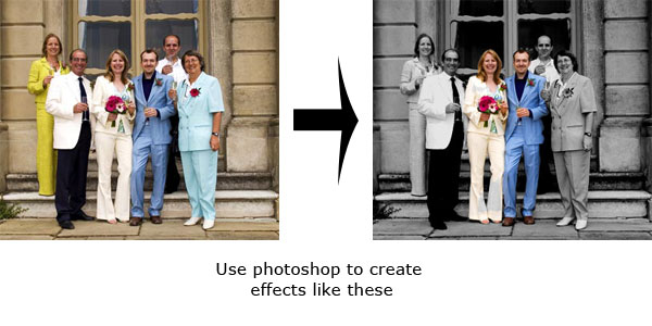 wedding photography showing how photoshop can be used for a color popping effect