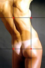 nude photography techniques - rule of thirds