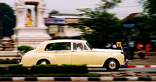 Bangkok royal family Rolls Royce panning photo
