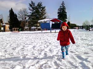 correctly exposed snowy scene