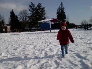 poorly exposed snowy scene