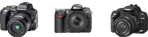 digital camera comparison - size SLR camera