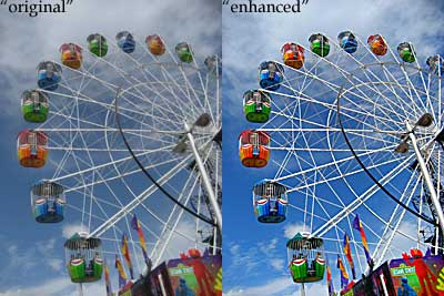 an example of how image enhancement can improve digital photography