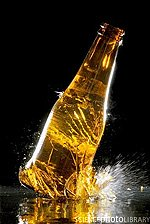 creative photo of a bottle smashing