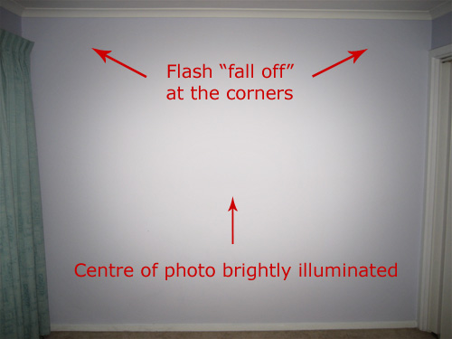 flash photography flash fall off