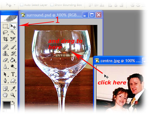 ontemporary wedding photography - multiple exposure step 1