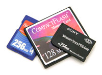 Selection of memory cards
