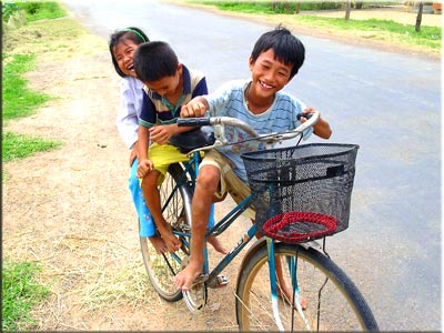 Vietnamese children smiling